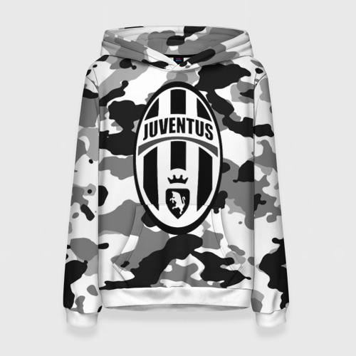 Женская толстовка 3D FC Juventus Camouflage