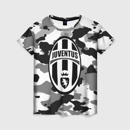 Женская футболка 3D FC Juventus Camouflage