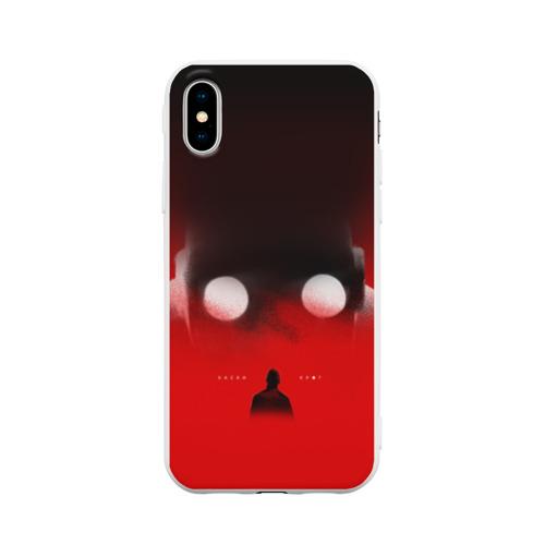 Чехол для iPhone X матовый Хаски Крот