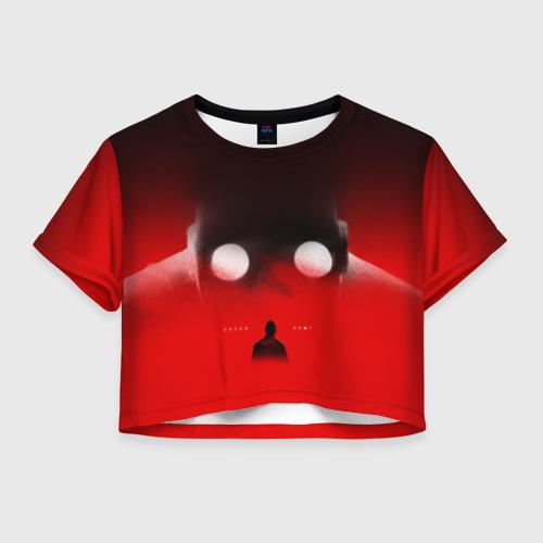 Женская футболка Crop-top 3D Хаски Крот