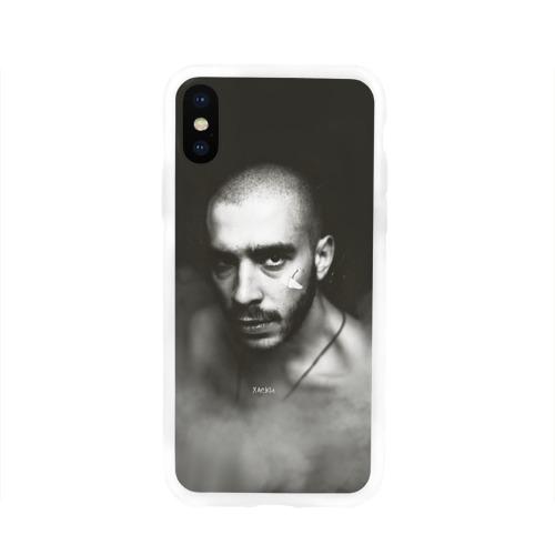 Чехол для Apple iPhone X силиконовый глянцевый Хаски