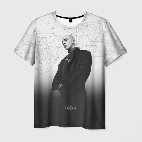 Мужская футболка 3D Хаски Geometry