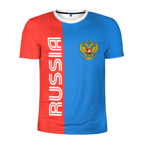 Мужская футболка 3D спортивная RUSSIA