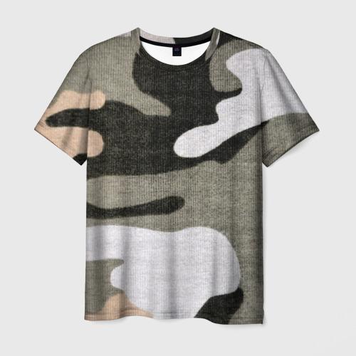 Мужская футболка 3D Хакки цвет