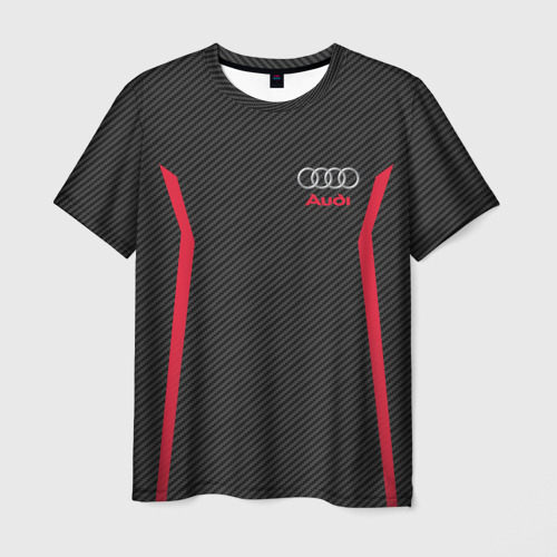 Мужская футболка 3D AUDI  SPORT CARBON
