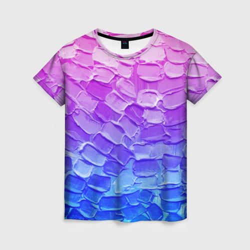 Женская футболка 3D Необычные краски