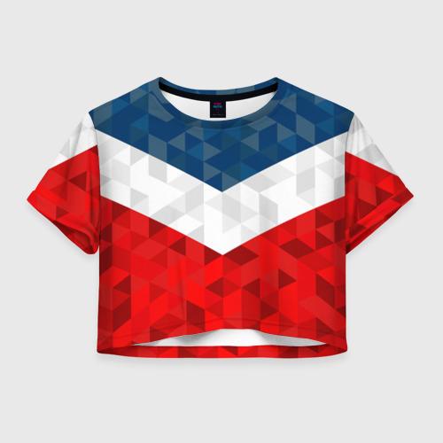 Женская футболка Crop-top 3D Форма России