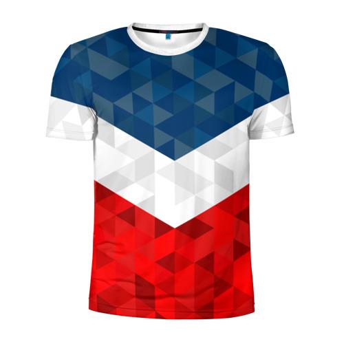 Мужская футболка 3D спортивная Форма России