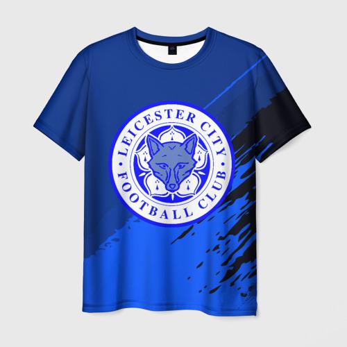 Мужская футболка 3D FC Leicester abstract style
