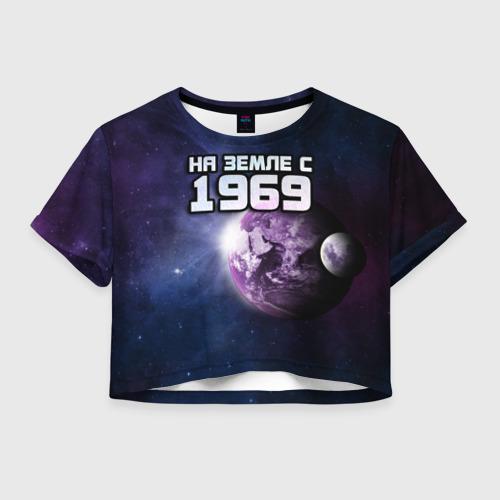 Женская футболка Crop-top 3D На земле с 1969