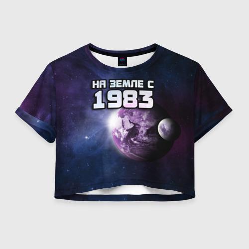 Женская футболка Crop-top 3D На земле с 1983