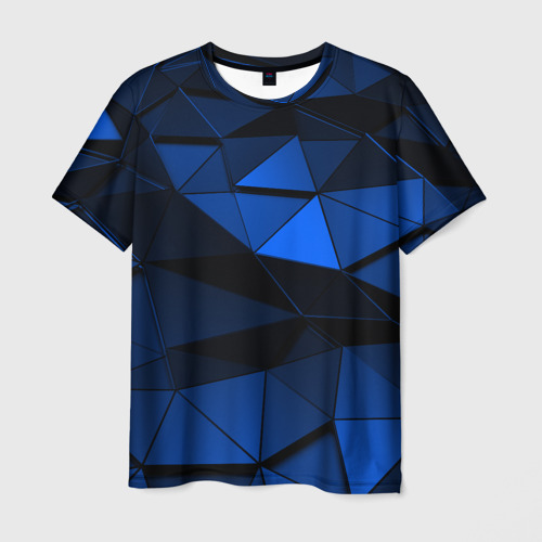 Мужская футболка 3D Blue abstraction collection