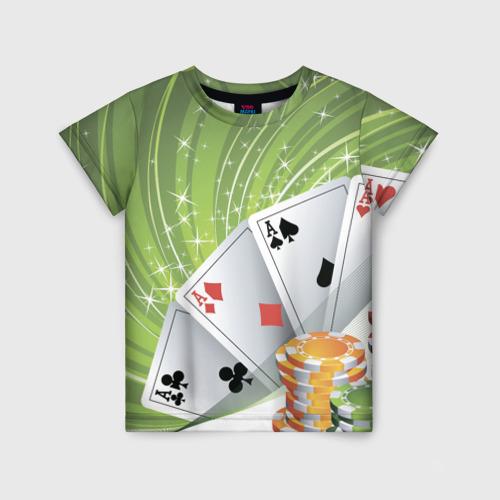 Детская футболка 3D Покер Старс