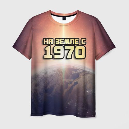 Мужская футболка 3D На земле с 1970