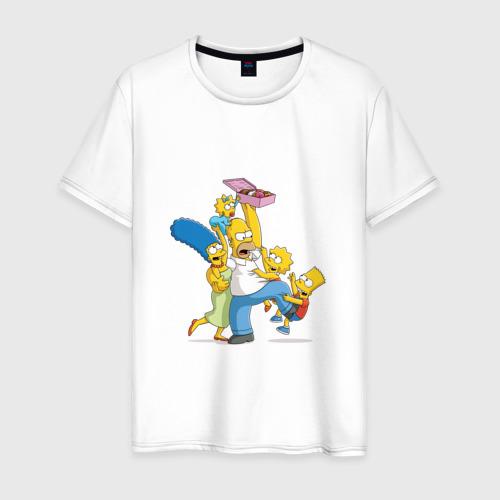 Мужская футболка хлопок Семья Симпсонов