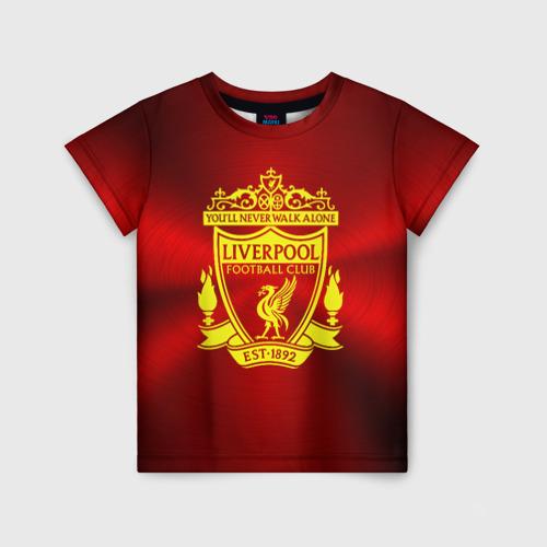 Детская футболка 3D ФК Ливерпуль