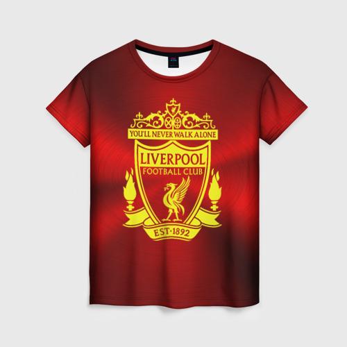 Женская футболка 3D ФК Ливерпуль