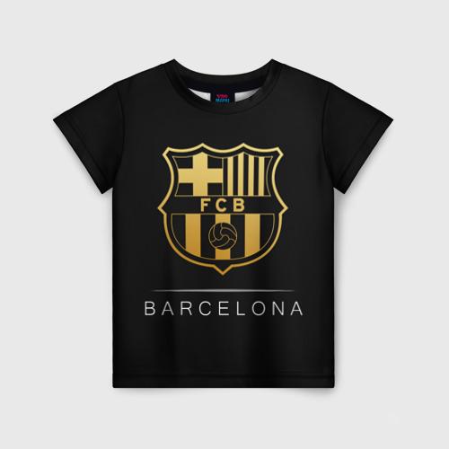Детская футболка 3D Barcelona Gold Edition