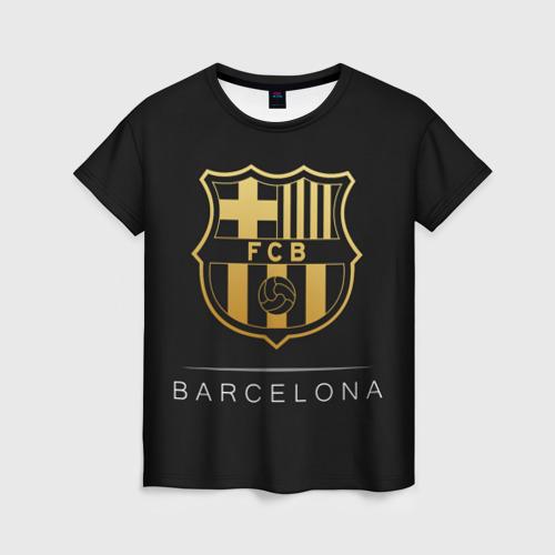 Женская футболка 3D Barcelona Gold Edition