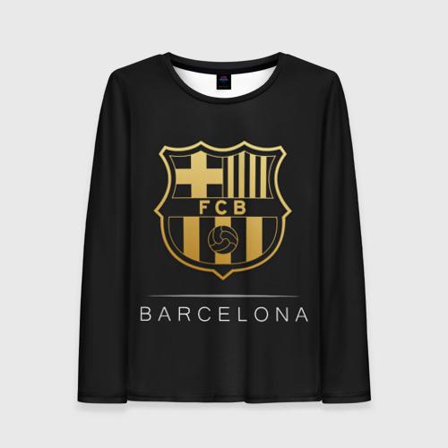 Женский лонгслив 3D Barcelona Gold Edition