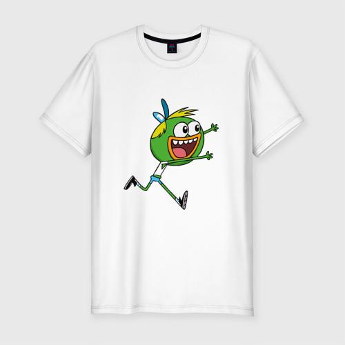 Мужская футболка хлопок Slim Шлепшлеп