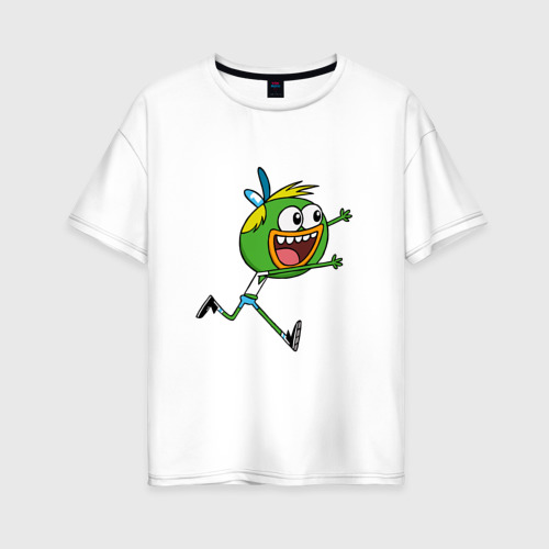 Женская футболка хлопок Oversize Шлепшлеп