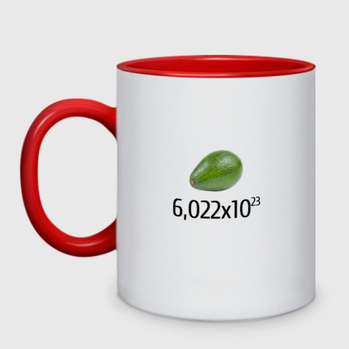 Кружка двухцветная Число Авокадо