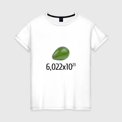 Женская футболка хлопок Число Авокадо