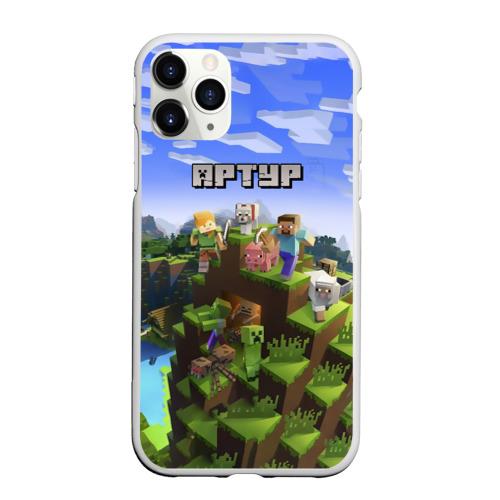 Чехол для iPhone 11 Pro Max матовый Артур - Minecraft
