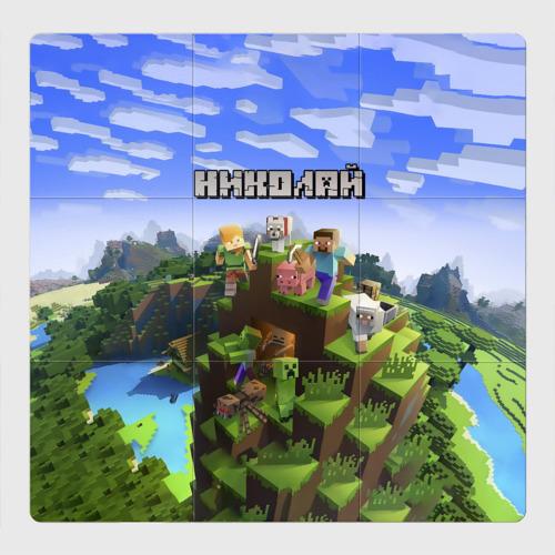Магнитный плакат 3Х3 Николай - Minecraft