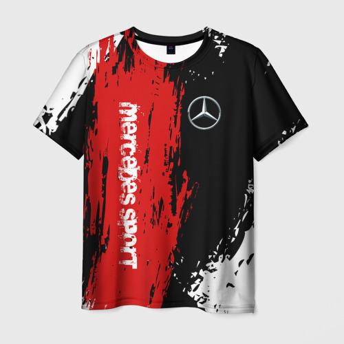 Мужская футболка 3D MERCEDES-BENZ AMG | МЕРСЕДЕС СПОРТ