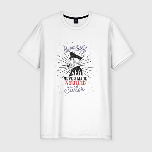Мужская футболка хлопок Slim Капитан