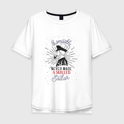 Мужская футболка хлопок Oversize Капитан