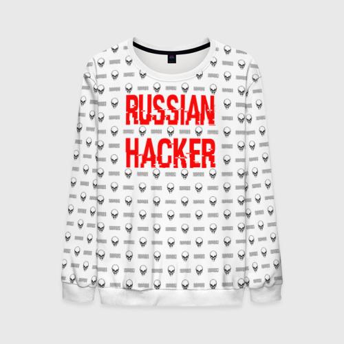 Мужской свитшот 3D Russian Hacker