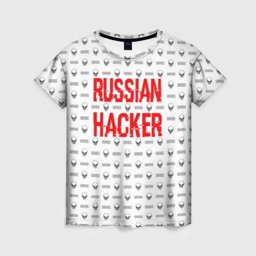 Женская футболка 3D Russian Hacker