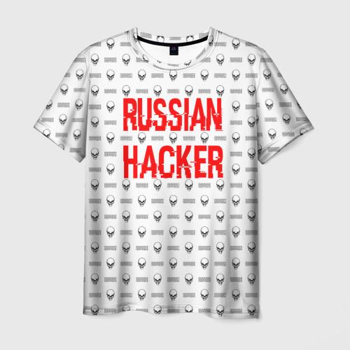 Мужская футболка 3D Russian Hacker