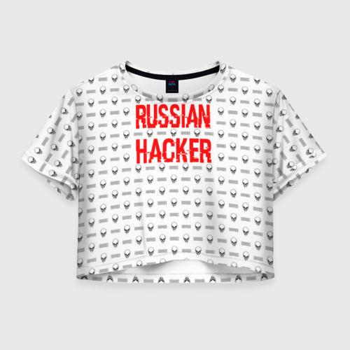 Женская футболка Crop-top 3D Russian Hacker