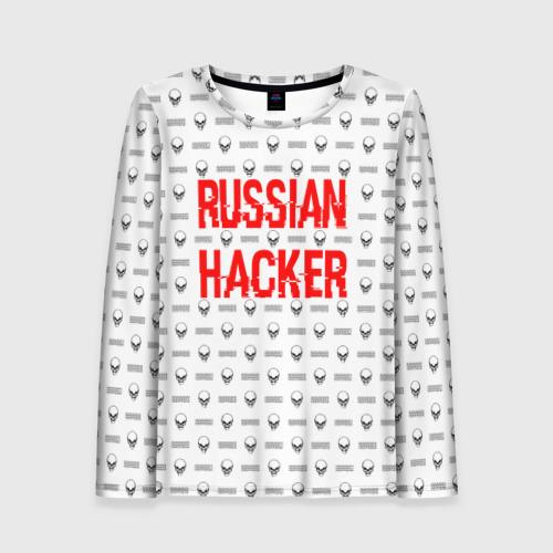Женский лонгслив 3D Russian Hacker