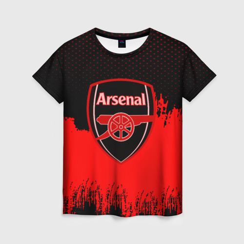Женская футболка 3D FC Arsenal Original uniform
