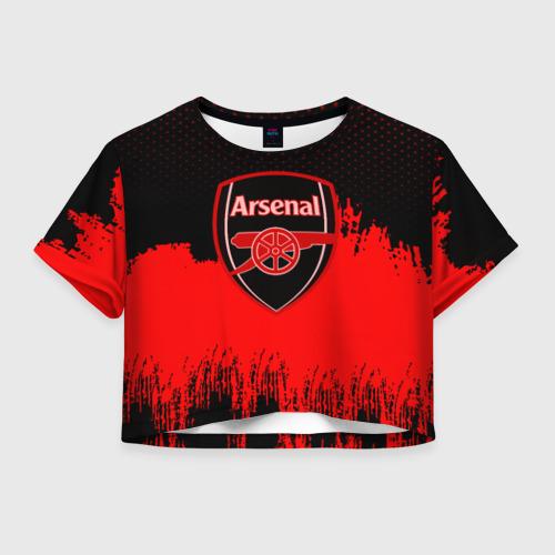 Женская футболка Crop-top 3D FC Arsenal Original uniform