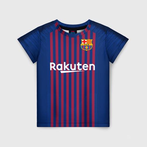 Детская футболка 3D Barcelona home 18-19