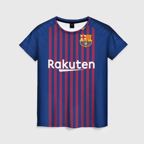 Женская футболка 3D Barcelona home 18-19