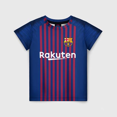 Детская футболка 3D Messi home 18-19