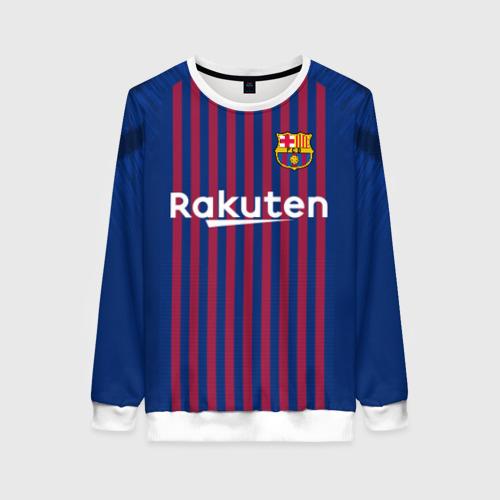 Женский свитшот 3D Messi home 18-19
