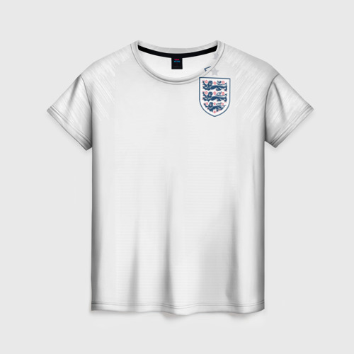 Женская футболка 3D England home WC 2018
