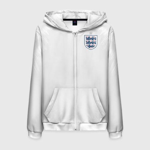 Мужская толстовка 3D на молнии England home WC 2018