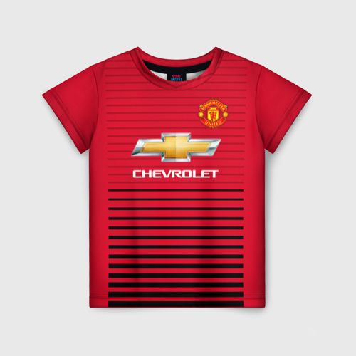 Детская футболка 3D Man United Форма Home 18/19