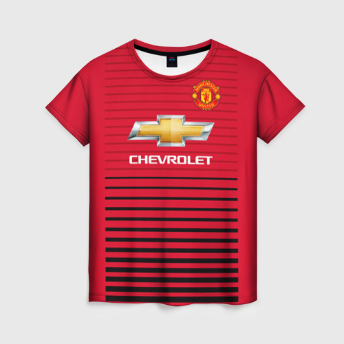 Женская футболка 3D Man United Форма Home 18/19