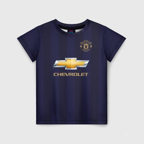 Детская футболка 3D Man United Форма Away 18/19