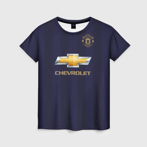 Женская футболка 3D Man United Форма Away 18/19
